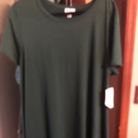 LuLaRoe Dresses & Skirts - New Dark green pocketless LuLaRoe Carly in Xl